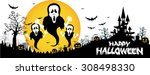 halloween design background... | Shutterstock .eps vector #308498330