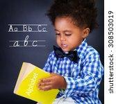Little Boy On Language Lesson ...