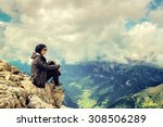 woman mountain | Shutterstock . vector #308506289