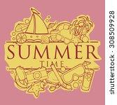 summer time background symbol ... | Shutterstock .eps vector #308509928