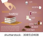 sweet colorful info graphic... | Shutterstock .eps vector #308510408