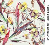 floral seamless pattern | Shutterstock . vector #308512058