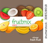 fruits | Shutterstock .eps vector #308528018
