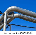 pipeline of the power station   Shutterstock . vector #308531306