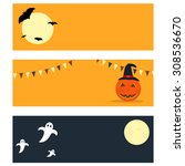 Flat Style Halloween Banners