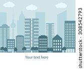modern city landscape background | Shutterstock .eps vector #308542793