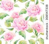 watercolor floral pattern | Shutterstock . vector #308547338
