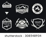 outdoor adventures icons ... | Shutterstock .eps vector #308548934