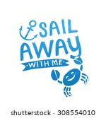 sail badge  logo  sign hand... | Shutterstock .eps vector #308554010