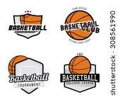 set of basketball league  ... | Shutterstock .eps vector #308561990