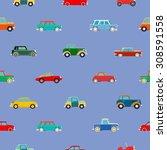 seamless wallpaper of set... | Shutterstock . vector #308591558