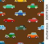 seamless wallpaper of set... | Shutterstock . vector #308591564