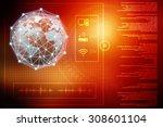globe internet connecting | Shutterstock . vector #308601104