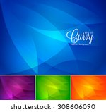 curvy abstract background | Shutterstock .eps vector #308606090