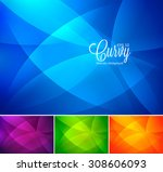 curvy abstract background | Shutterstock .eps vector #308606093