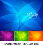 curvy abstract background | Shutterstock .eps vector #308606108
