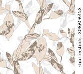 floral seamless pattern | Shutterstock .eps vector #308606453