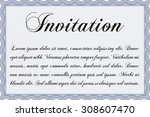 retro invitation template.... | Shutterstock .eps vector #308607470