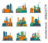industrial city construction... | Shutterstock . vector #308625779