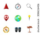 mobile gps navigation and...   Shutterstock . vector #308626406