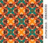 vector seamless pattern ethnic... | Shutterstock .eps vector #308630030