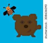 vector animal icon. the bear...