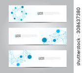 vector design banner network... | Shutterstock .eps vector #308637380