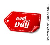 deal of the day red vector icon ... | Shutterstock .eps vector #308645363