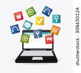 social media design  vector... | Shutterstock .eps vector #308650124