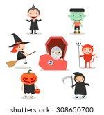 vector illustration of cute... | Shutterstock .eps vector #308650700