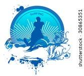 surfing banner | Shutterstock .eps vector #30865351