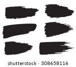 vector set of grunge brush... | Shutterstock .eps vector #308658116