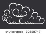 icon of cloud | Shutterstock .eps vector #30868747