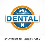 dental  mountain logo design | Shutterstock .eps vector #308697359
