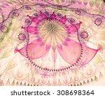large bent exotic looking... | Shutterstock . vector #308698364