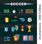 soccer game icons. football... | Shutterstock .eps vector #308715866
