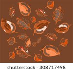 autumn background | Shutterstock .eps vector #308717498