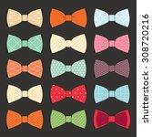 illustration set of bow tie in... | Shutterstock .eps vector #308720216