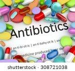 prescription drugs   antibiotics | Shutterstock . vector #308721038
