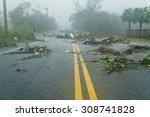 Debri Blocking Road During A...