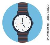 watch icon   Shutterstock .eps vector #308742020