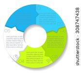 vector round infographic... | Shutterstock .eps vector #308747438