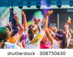 singapore   aug 22  crowds of... | Shutterstock . vector #308750630