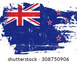 scratched new zealand flag. a... | Shutterstock .eps vector #308750906