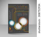 template for brochure or flyer. ... | Shutterstock .eps vector #308752934