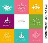vector illustration of logo for ... | Shutterstock .eps vector #308755163