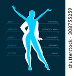 vector illustration of be fit ... | Shutterstock .eps vector #308755259