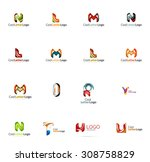 set of new universal company... | Shutterstock . vector #308758829