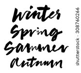 spring  summer  autumn  winter. ... | Shutterstock .eps vector #308760266