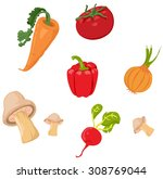 vegetables set | Shutterstock .eps vector #308769044